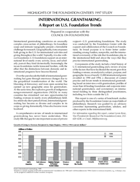 Highlights of the Foundation Center's 1997 Study: International Grantmaking - A Report on U.S. Foundation Trends