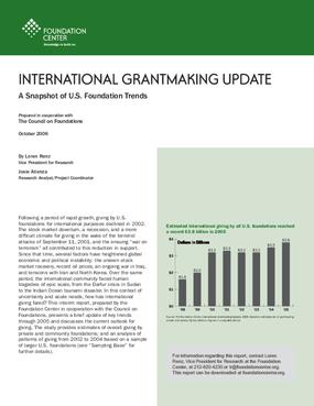 International Grantmaking Update: A Snapshot of U.S. Foundation Trends, 2006