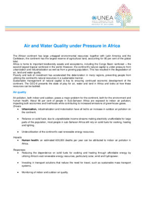 Air and Water Quality under Pressure in Africa