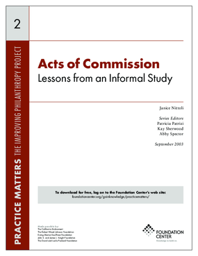Acts of Commission: Lessons from an Informal Study - Executive Summary