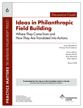 Ideas in Philanthropic Field Building: Where They Come from and How They Are Translated into Actions - Discussion Guide