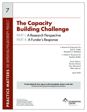 The Capacity Building Challenge: A Research Perspective & A Funder's Response - Executive Summary