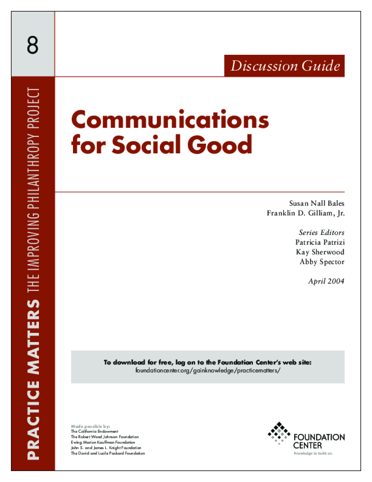 Communications for Social Good - Discussion Guide