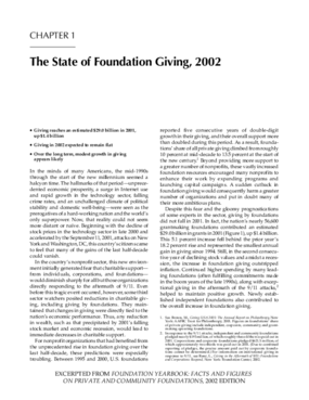 The State of Foundation Giving, 2002