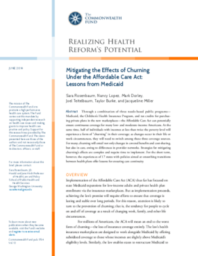Mitigating the Effects of Churning Under the Affordable Care Act: Lessons from Medicaid
