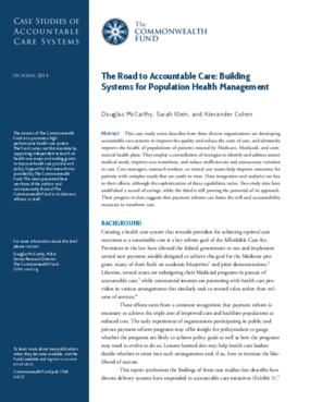 Accountable Care: Building Systems for Population Health Management