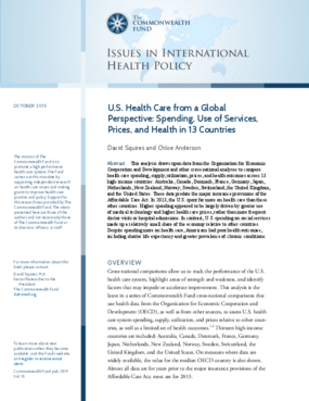 U.S. Health Care from a Global Perspective: Spending, Use of Services, Prices, and Health in 13 Countries
