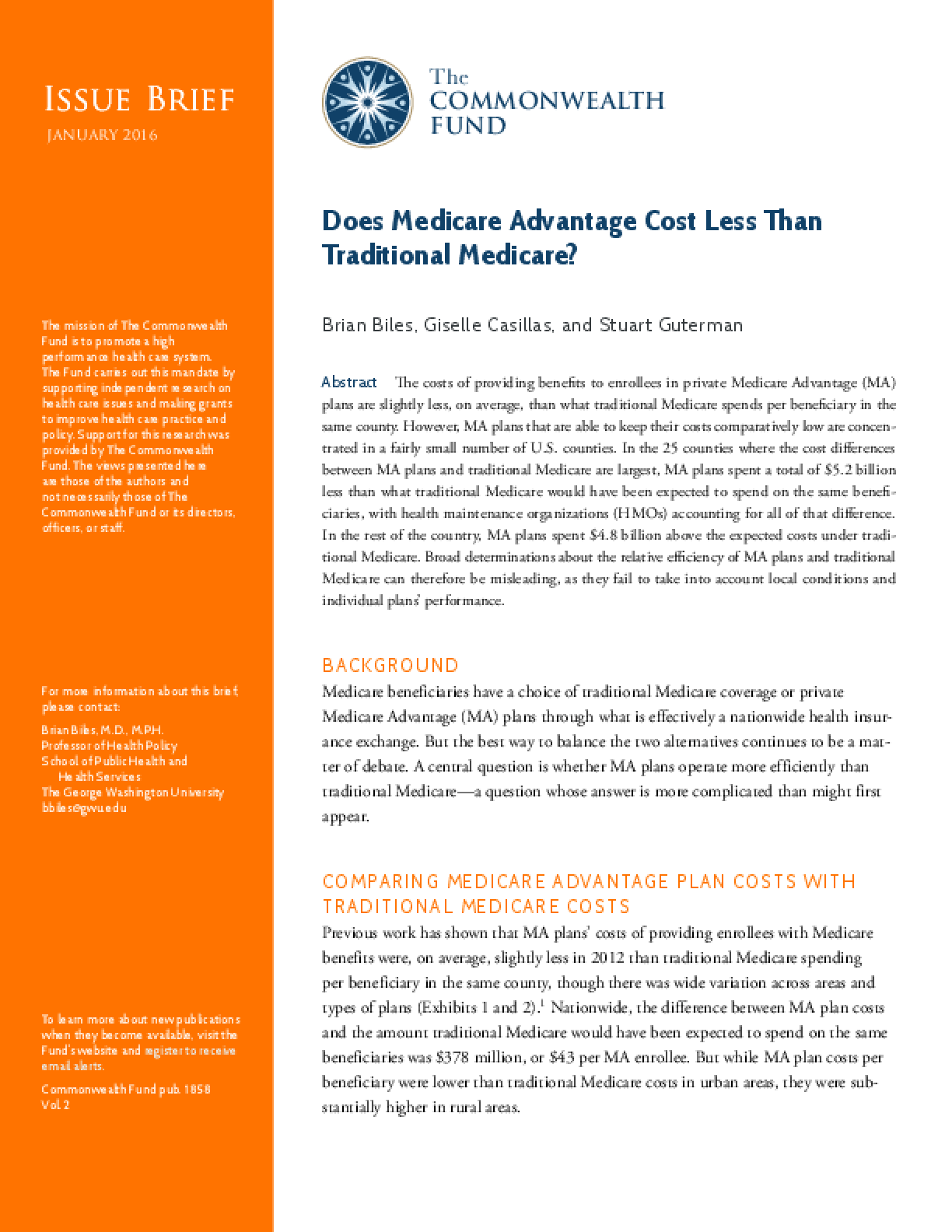 Are Medicare Advantage Plans Lower-Cost Than Traditional Medicare?