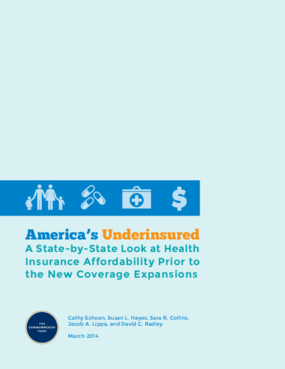 America's Underinsured: A State-by-State Look at Health Insurance Affordability Prior to the New Coverage Expansions