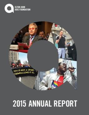 Elton John Aids Foundation 2015 Annual Report