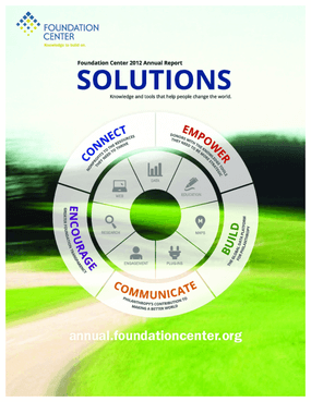 Foundation Center 2012 Annual Report