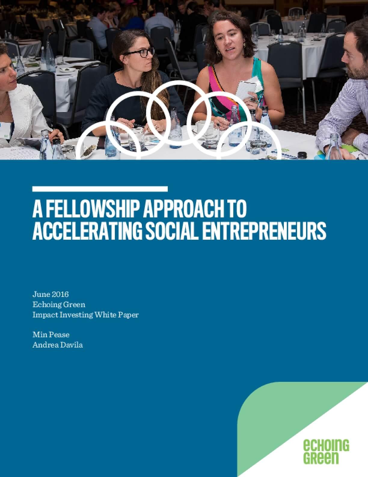A Fellowship Approach to Accelerating Social Entrepreneurs