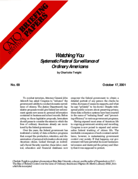 Watching You: Systematic Federal Surveillance of Ordinary Americans