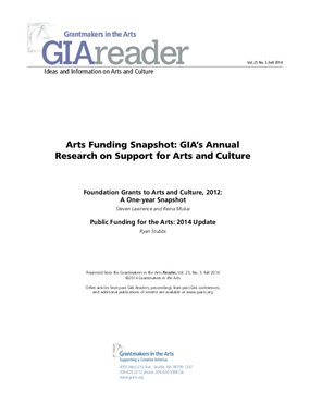 Arts Funding Snapshot: GIA's Annual Research on Support for Arts and Culture, 2014