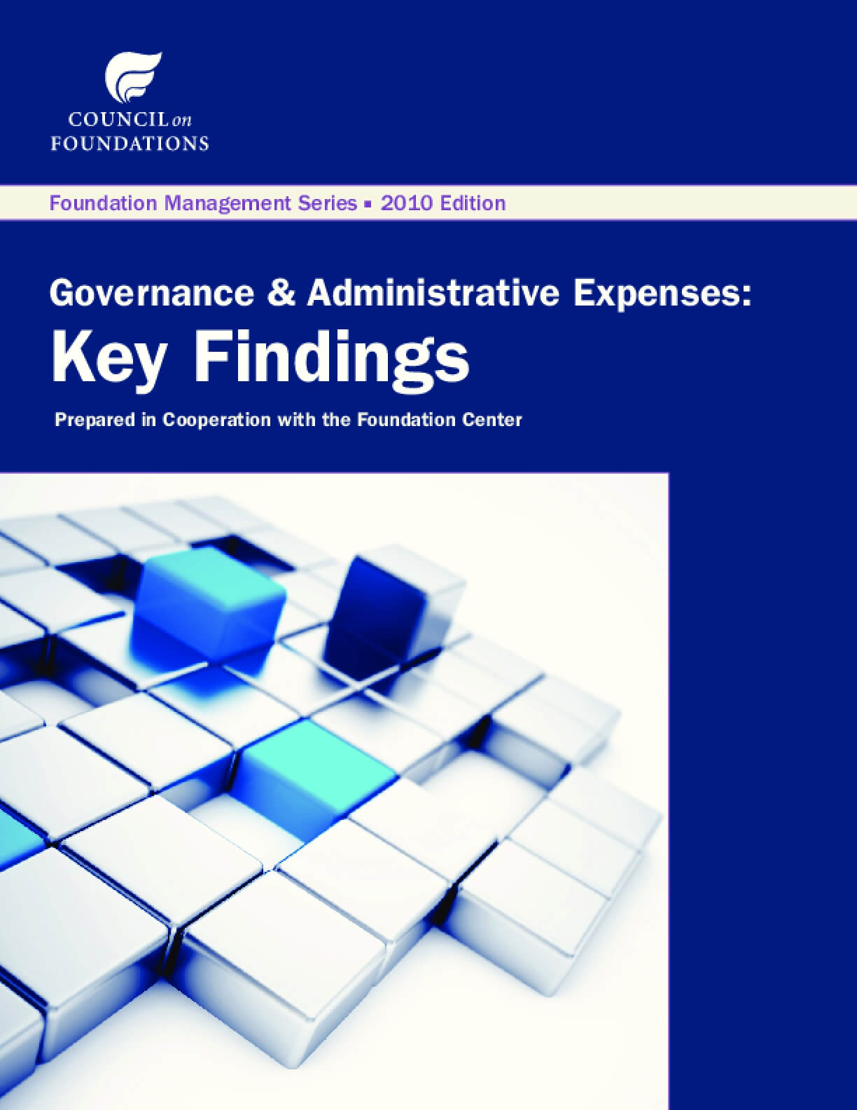 Governance & Administrative Expenses: Key Findings