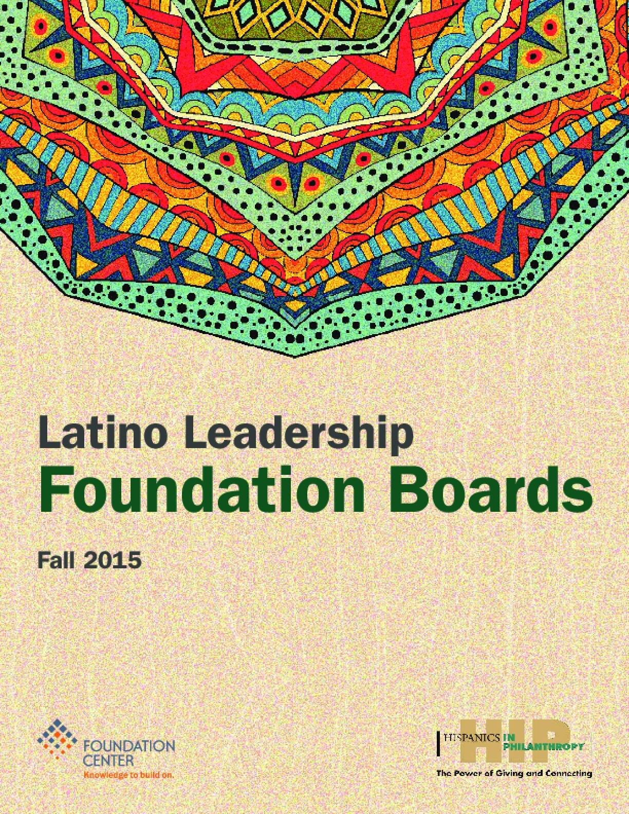 Latino Leadership: Foundation Boards