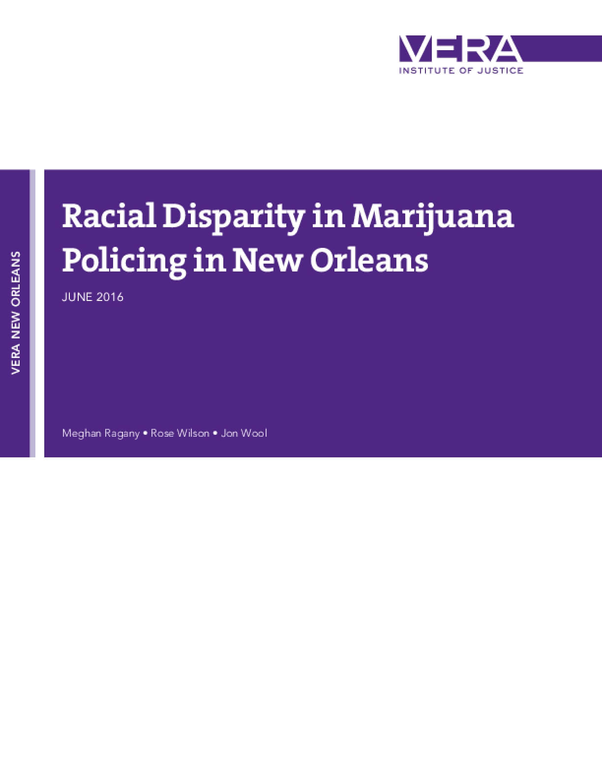 Racial Disparity in Marijuana Policing in New Orleans