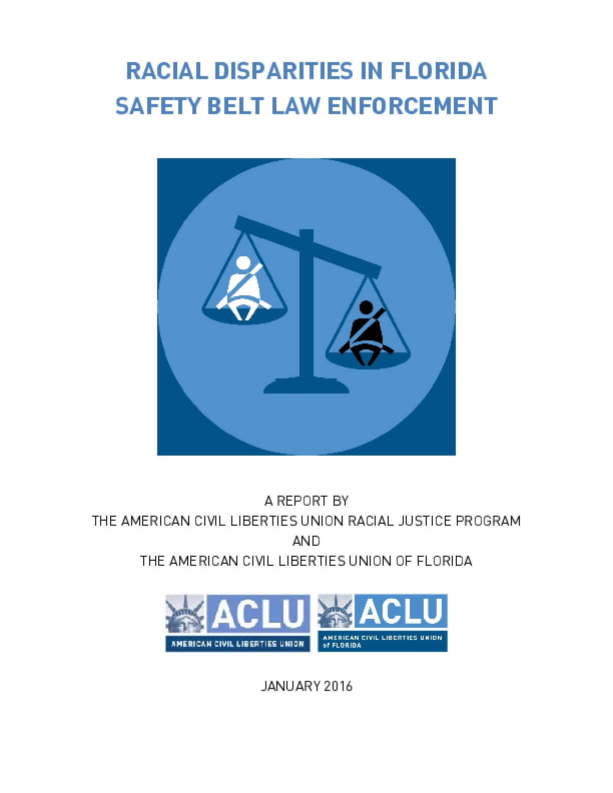 Racial Disparities in Florida Safety Belt Law Enforcement