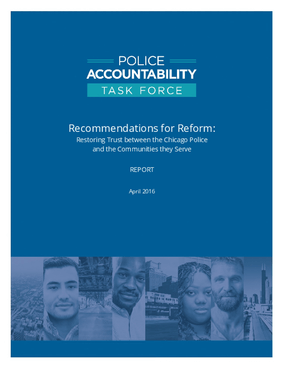 Recommendations for Reform: Restoring Trust Between the Chicago Police and the Communities They Serve