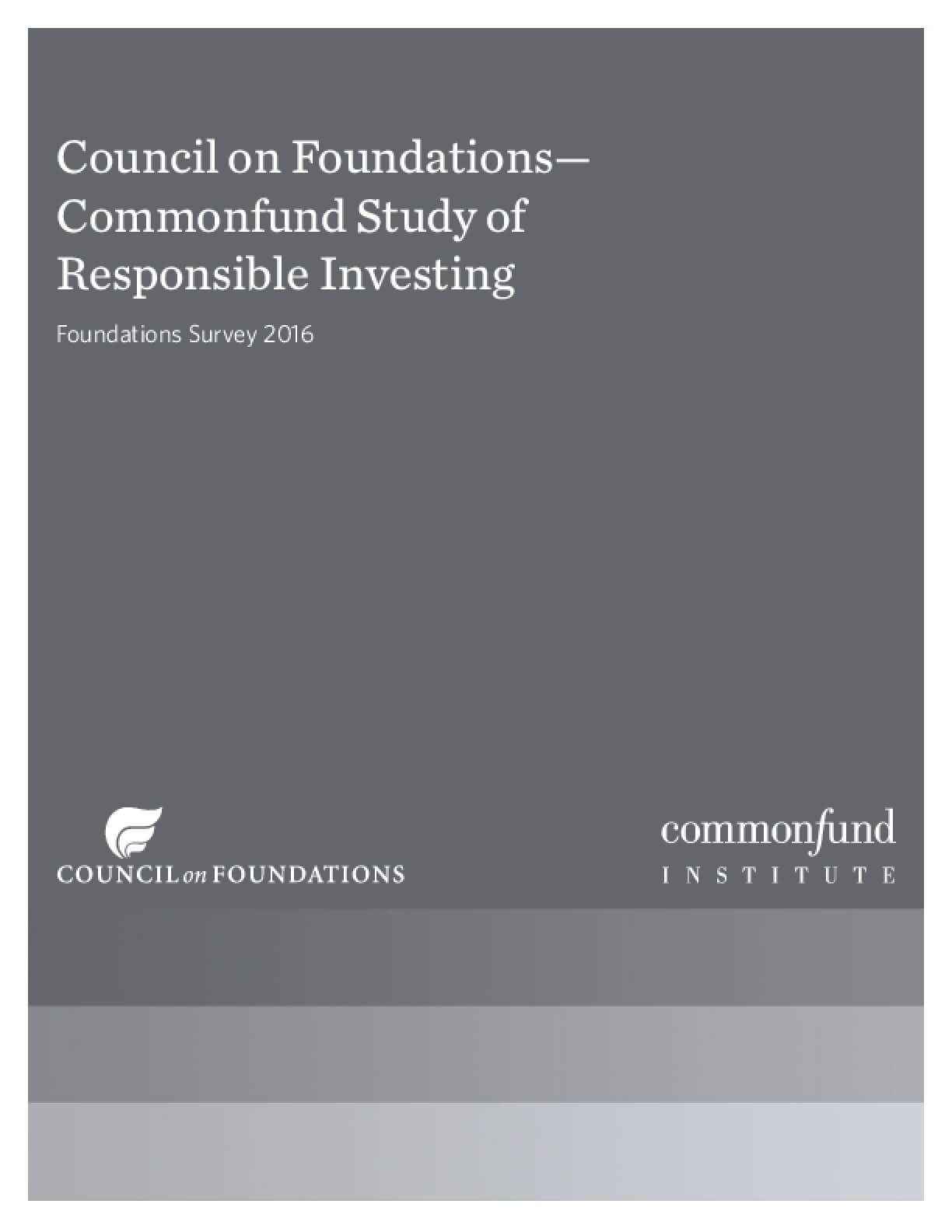 Council on Foundations: Commonfund Study of Responsible Investing