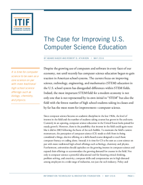 The Case for Improving U.S. Computer Science Education