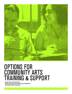 Options for Community Arts Training and Support