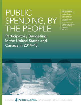 Public Spending, By The People: Participatory Budgeting in the  United States and Canada in 2014-15