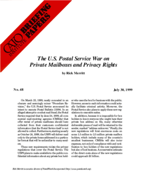 The U.S. Postal Service War on Private Mailboxes and Privacy Rights