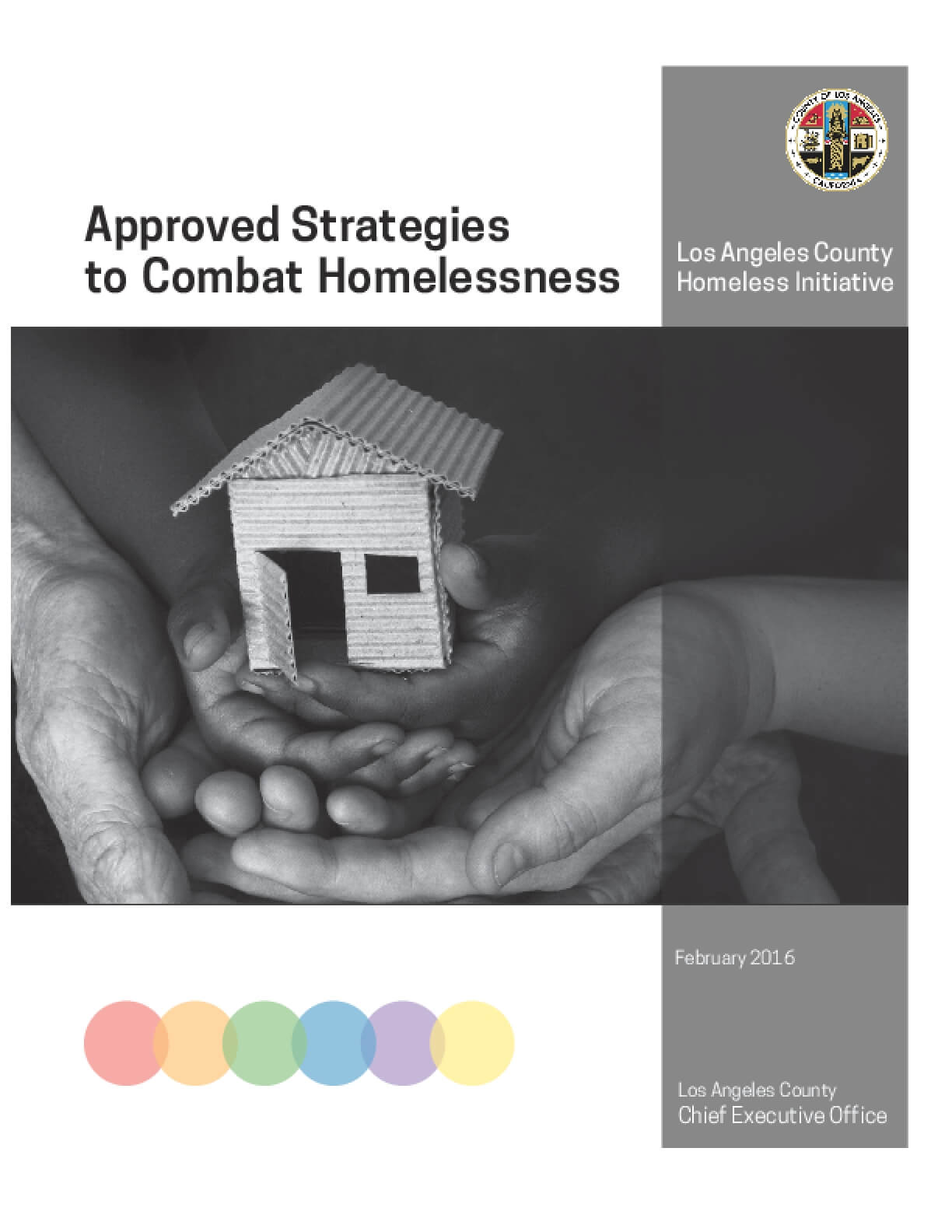 Approved Strategies to Combat Homelessness