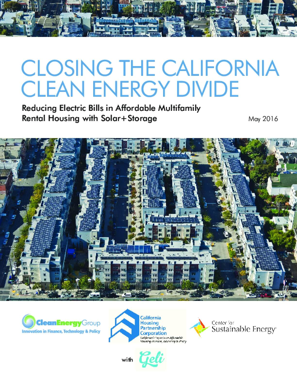 Closing the California Clean Energy Divide: Reducing Electric Bills in Affordable Multifamily Rental Housing with Solar+storage