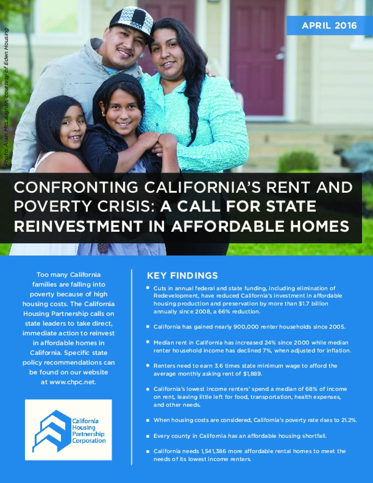 Confronting California's Rent and Poverty Crisis: A Call for State Reinvestment in Affordable Homes