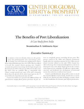 The Benefits of Port Liberalization: A Case Study from India