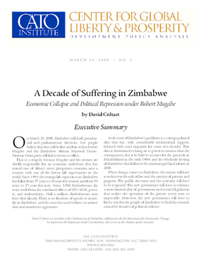 A Decade of Suffering in Zimbabwe: Economic Collapse and Political Repression under Robert Mugabe