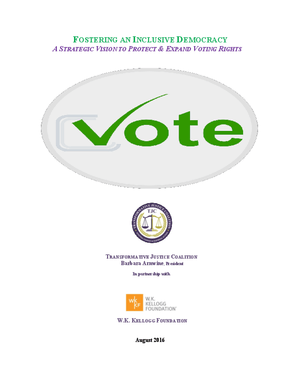 Fostering an Inclusive Democracy: A Strategic Vision to Protect & Expand Voting Rights