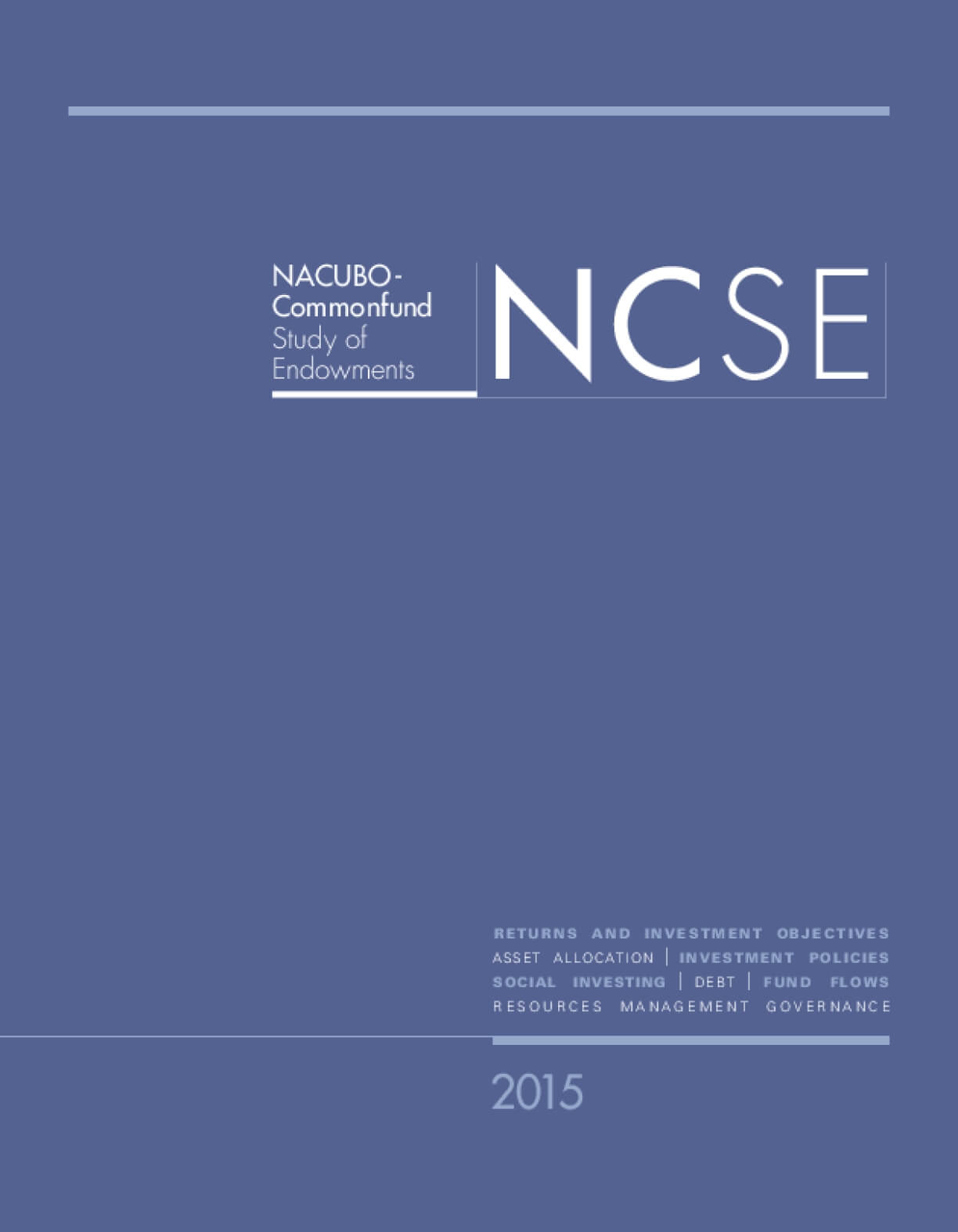 NACUBO-Commonfund Study of Endowments (NCSE)