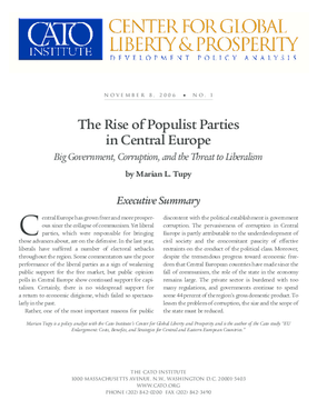 The Rise of Populist Parties in Central Europe: Big Government, Corruption, and the Threat to Liberalism