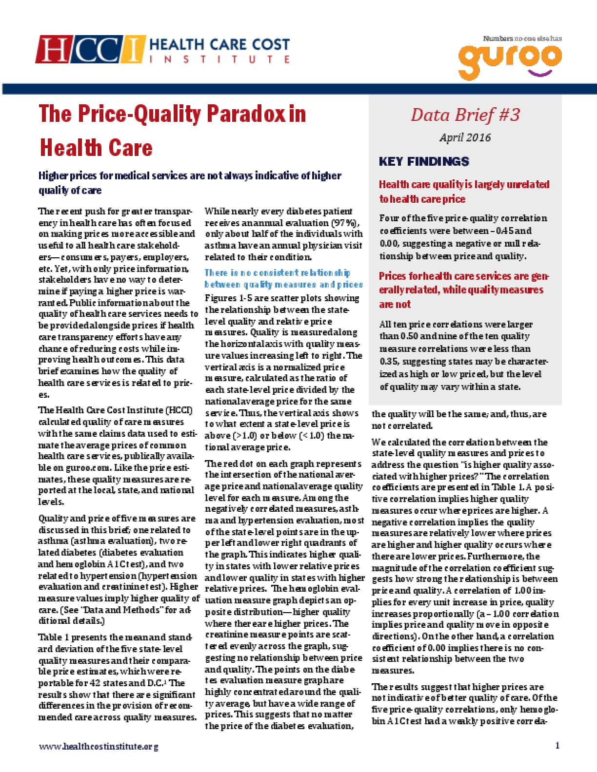 The Price-Quality Paradox in Healthcare