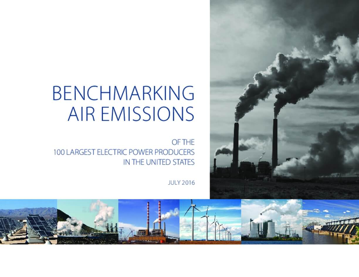 Benchmarking Air Emissions of the 100 Largest Electric Power Producers in the United States: 2016