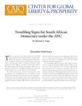 Troubling Signs for South African Democracy under the ANC