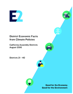 District Economic Facts from Climate Policies: California Assembly Districts 21 - 40