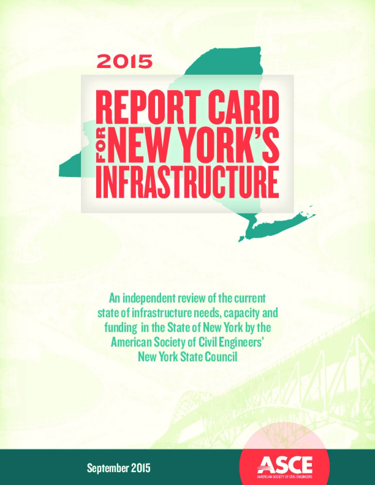 Report Card for New York's Infrastructure 2015