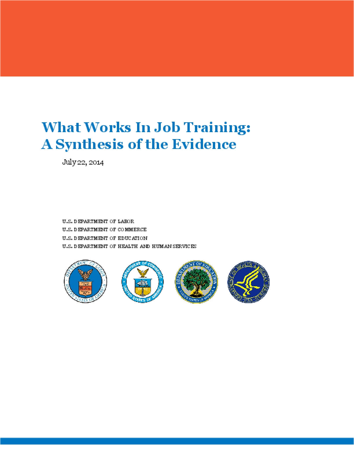 What Works In Job Training: A Synthesis of the Evidence