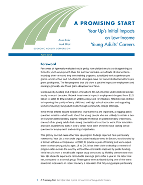 A Promising Start: Year Up's Initial Impacts on Low-Income Young Adults' Careers