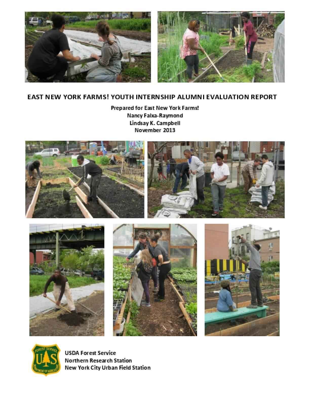 East New York Farms! Youth Internship Alumni Evaluation Report