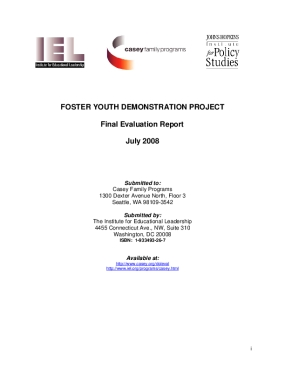 Foster Youth Demonstration Project, Final Evaluation Report