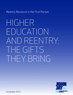 Higher Education and Reentry: The Gifts They Bring