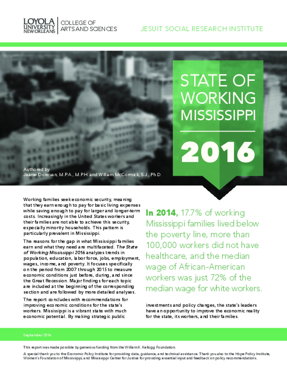 State of Working Mississippi 2016