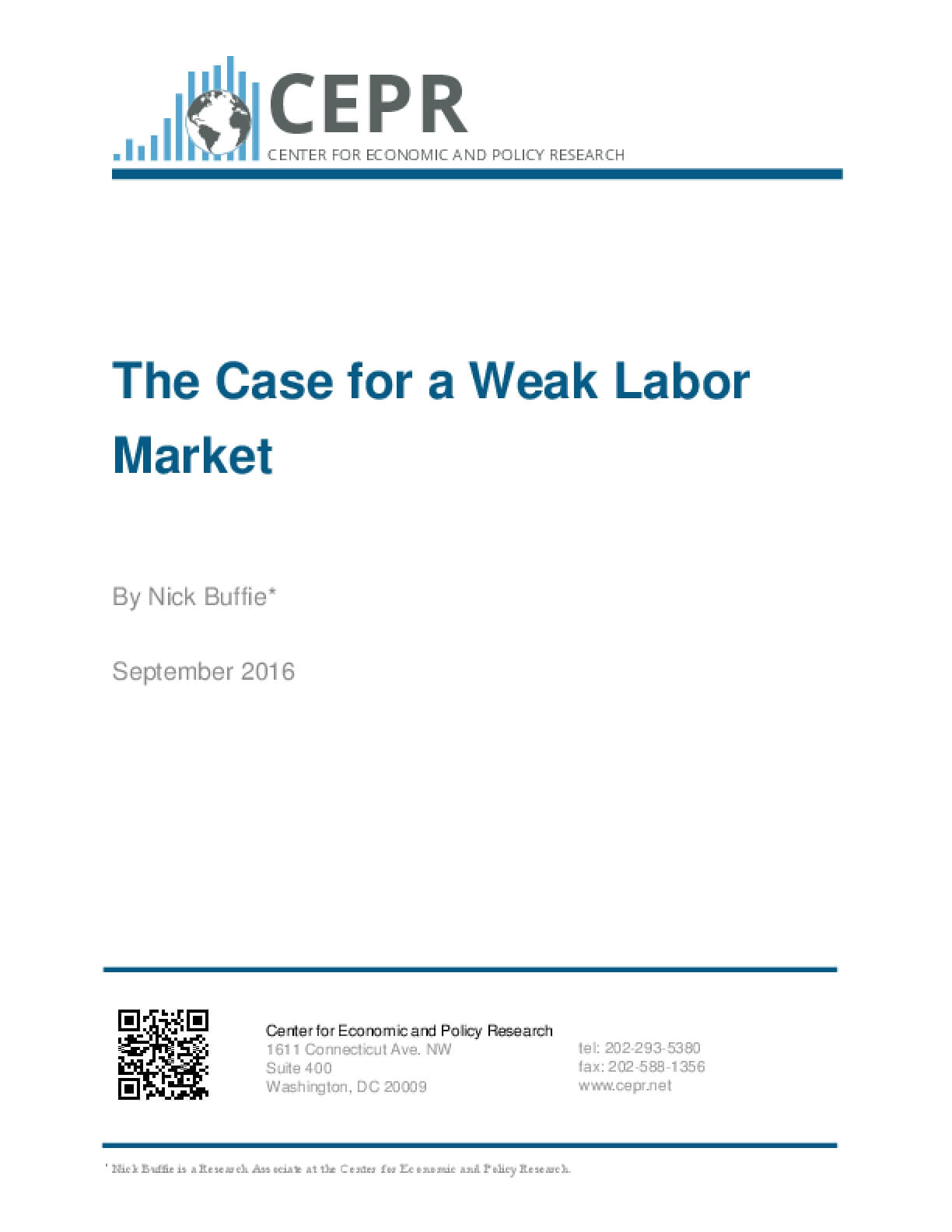 The Case for a Weak Labor Market