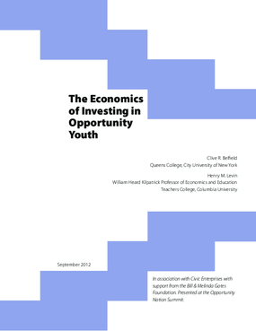 The Economics of Investing in Opportunity Youth