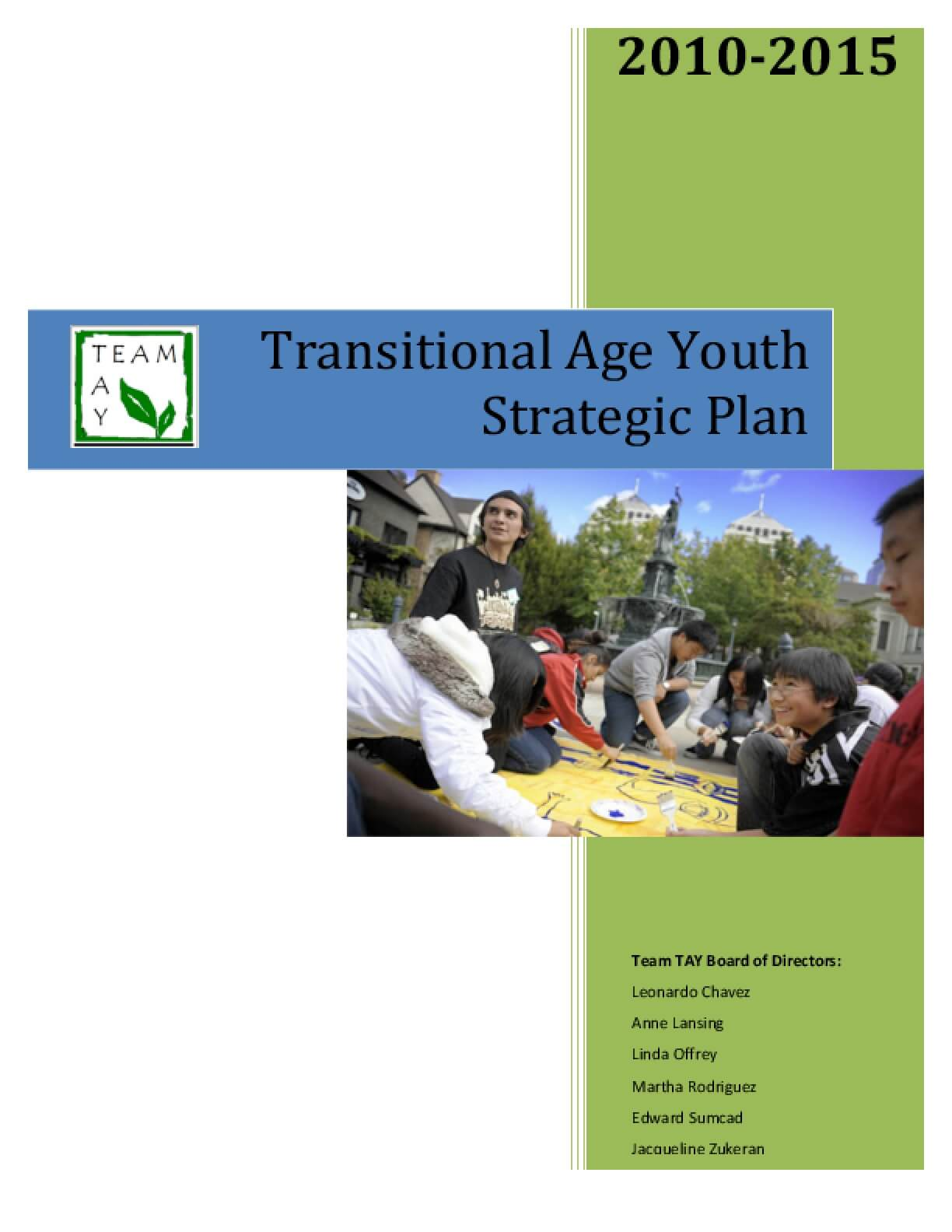 Transitional Age Youth Strategic Plan